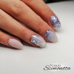 Szimonetta Hard gel+builder White keverve, Hard gél, Pro top, Uv painting fehér